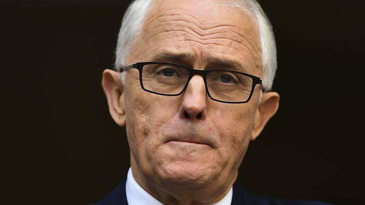 Ihm laufen die Minister davon: der australische Regierungschef Malcolm Turnbull. (Archivbild)