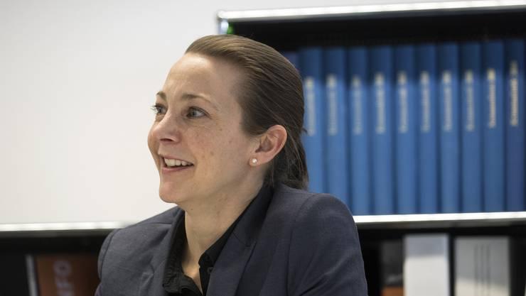 Fabienne Holland in ihrem Büro in der Solothurner Schanzmühle.