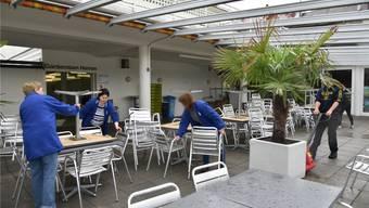 Badi Olten – der Eröffnungstermin wurde um eine Woche verschoben: Grund: Hochwasser.