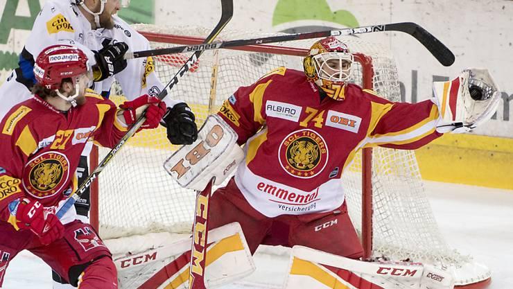Goalie Ivars Punnenovs hält die Tigers mit seinen Paraden im Spiel