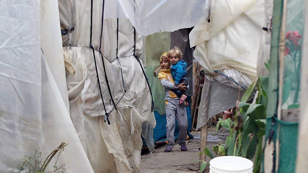 Syrische Flüchtlingskinder in einem Lager im Libanon: Kanada will weitere 10'000 Flüchtlinge aufnehmen. (Archivbild)
