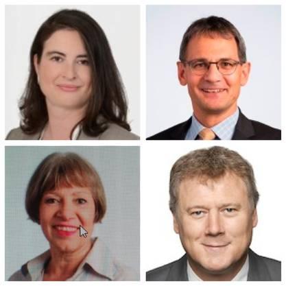 oben links: Ruth Jo. Scheier oben rechts: Sander Mallien unten links: Isabelle Wanner untern rechts: Christian Burger