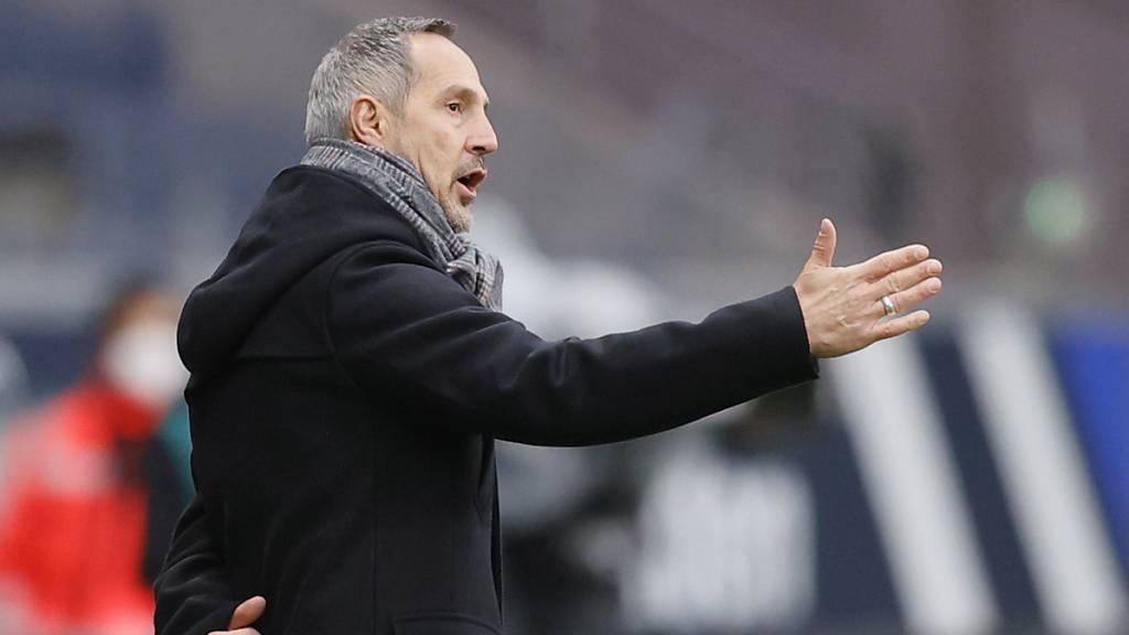 Adi Hütter hält Eintracht Frankfurt auf Champions-League-Kurs