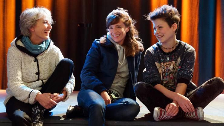 Das «Endlich Mittwoch!»-Team der Stanzerei: Barbara Zulauf, Lena Trummer und Fabienne Keller (von links).