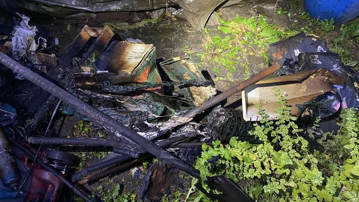 Brand in einem Gartenhaus in Wohlen.