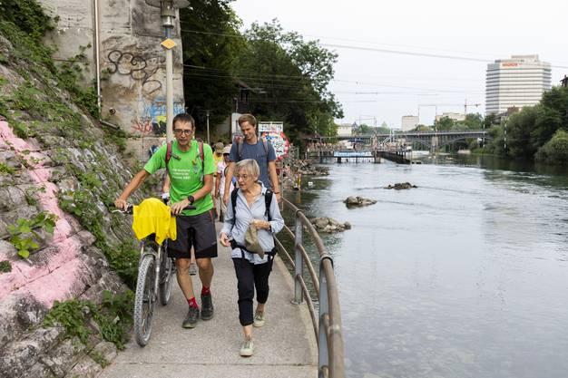 Markus Dietschi, Grossrat Grüne AG, auf der 8. Etappe Leserwandern von Zürich nach Schlieren, am 26. Juli 2019.