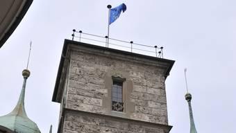 Am 5. Mai weht am Rathaus jeweils die Europarats-Flagge.