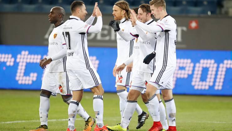 Der FC Basel gewinnt gegen Luzern mit 4:1