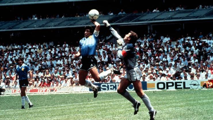 Die berühmte «Hand Gottes» an der WM 1986