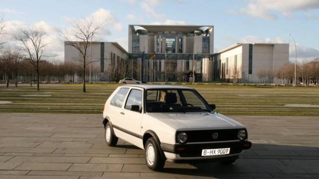 Angela Merkel soll diesen VW Golf einst gefahren sein (Archiv)
