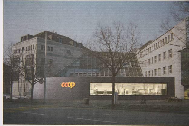 So sieht das Coop-Center nachts aus