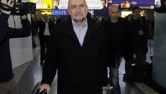 Delegationsleiter Herman Nackaerts vor dem Abflug in den Iran