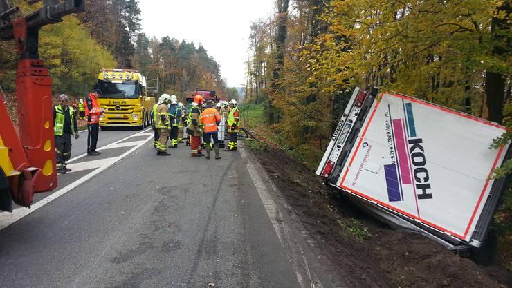 Die Kantonsstrasse zwischen Felsenau (Gemeinde Leuggern) und Leibstadt ist zwischenzeitlich gesperrt.