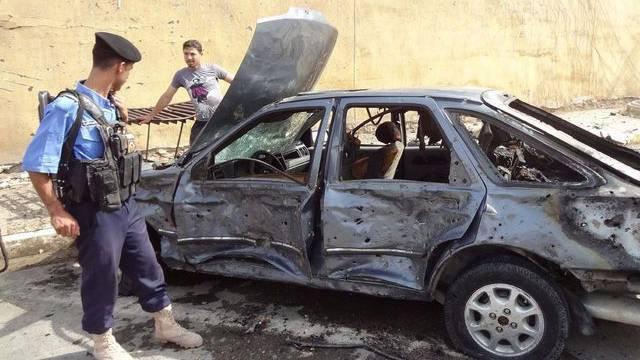 Spuren des Anschlags im irakischen Kirkuk