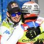 Dominik Paris (links) und Beat Feuz gratulieren sich gegenseitig