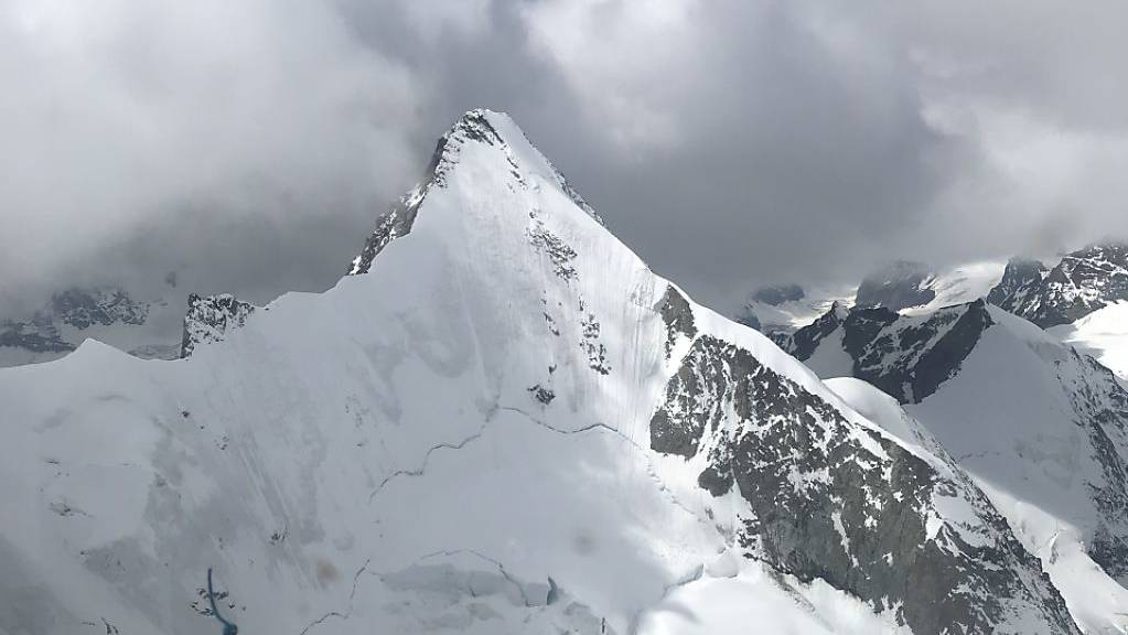 Der Gipfel des 4063 Meter hohen Obergabelhorns im Wallis.