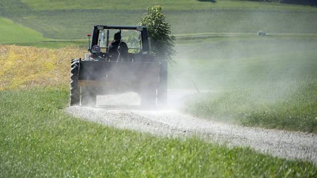 Ein 20-Jähriger hat sich beim Velofahren von seinem Handy abelenken lassen und dabei einen Traktor übersehen. (Symbolbild)