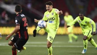 Arxhend Cani in seinem ersten Spiel für den FC Aarau gegen Xamax
