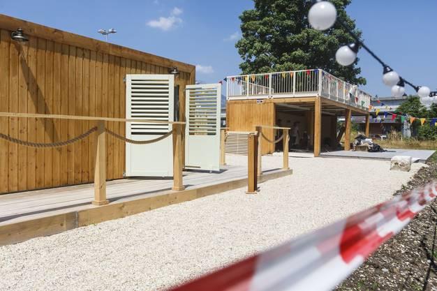 Badmeister Sommerlounge beim CIS Solothurn, kurz vor der Eröffnung 2019