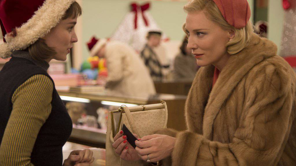 """Rooney Mara (l), Cate Blanchett (r) und ihr Film """"Carol"""" sind für den Golden Globe nominiert (Handout)."""