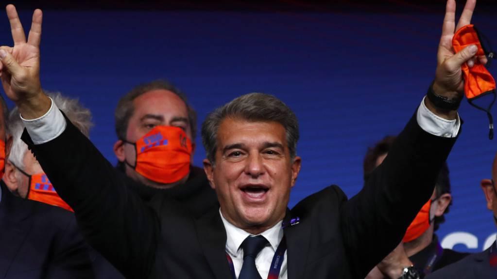 Joan Laporta darf sich erneut als Präsident des FC Barcelona versuchen