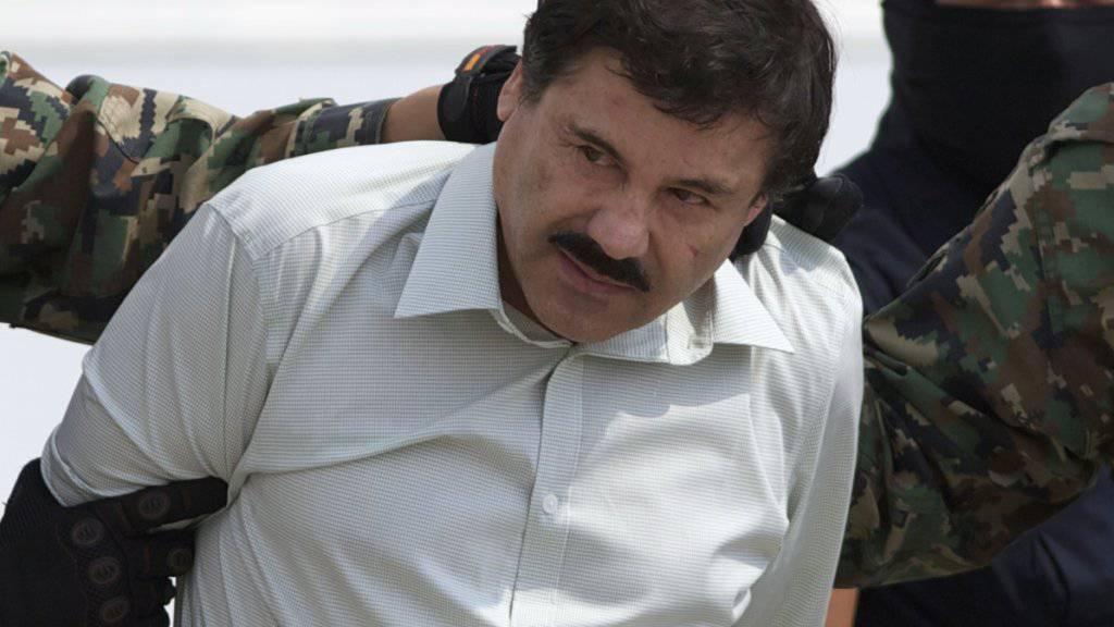 """Hat sich möglicherweise auf der Flucht verletzt: Drogenboss """"El Chapo"""" (Archivbild)"""