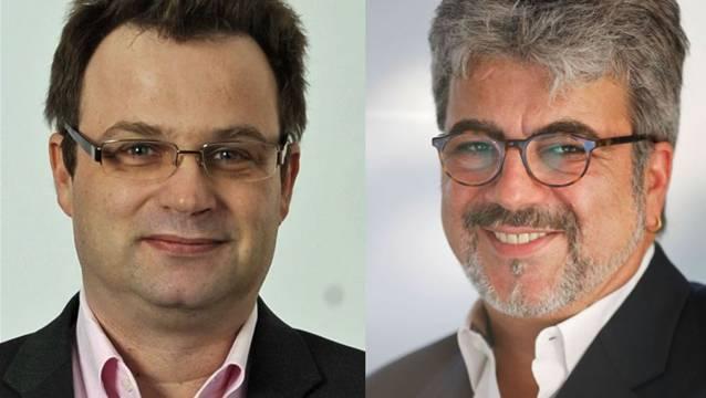 Michael Merkli (BDP, links im Bild) und Philippe Rey (parteilos).