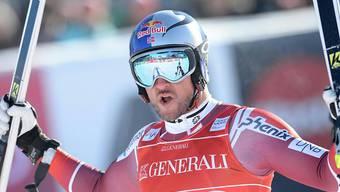 Aksel Lund Svindal, vor Wochenfrist Sieger der Lauberhorn-Abfahrt, war auch im Super-G in Kitzbühel nicht zu schlagen