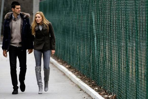 Djokovics Frau Jelena meidet die Öffentlichkeit.