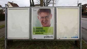 In der Mitte, aber völlig isoliert: Gerhard Schafroth, Regierungsratskandidat der Grünliberalen.