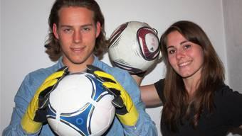 Die Sicherheit liegt in der Familie: Das Torhüter-Geschwisterduo Nico und Sina Autino.