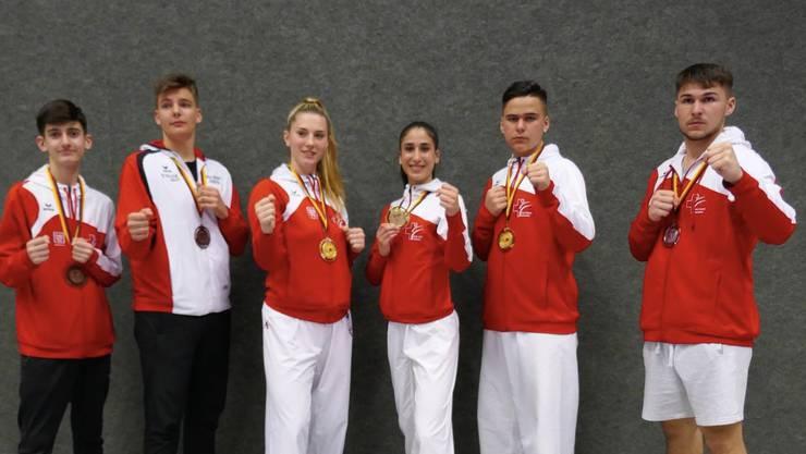 Die erfolgreichen Karatekas vom Budo Sport Center Liestal.