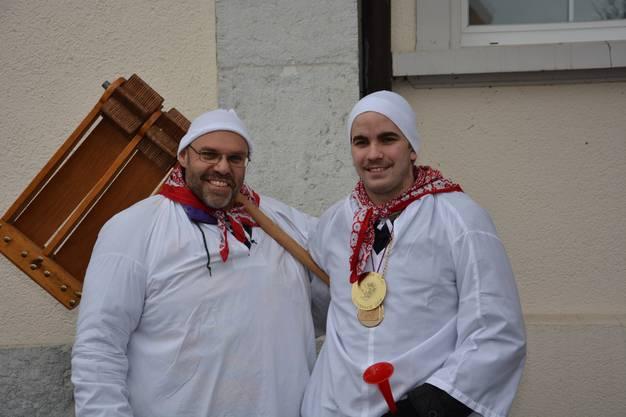Links: OK-Mitglied Hausi Rothenbühler Rechts: Obernarr Sämi Ruoss