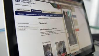 Webseite der Stadtpolizei Zürich (Archiv).