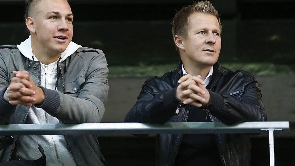 Christoph Spycher (rechts) wird neuer Sportchef bei den Young Boys