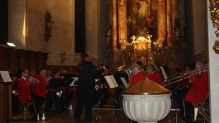 Der Musikverein Gretzenbach beim Adventskonzert