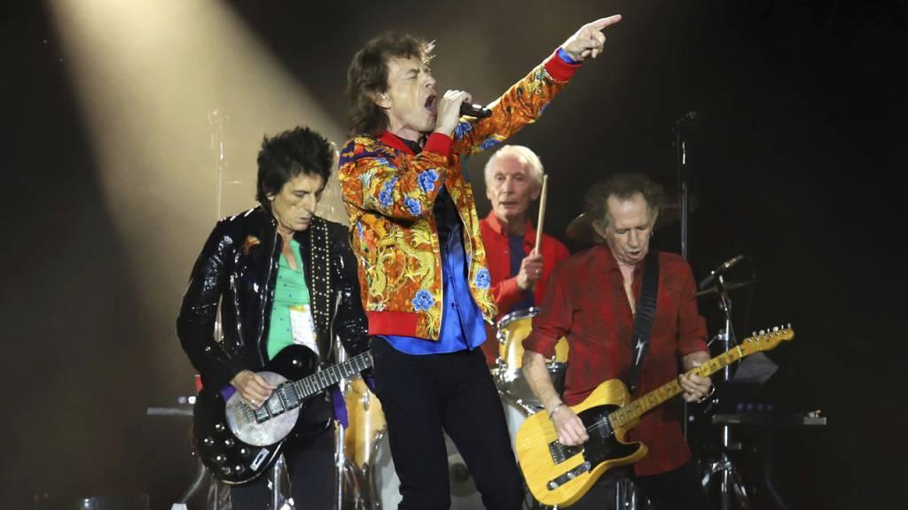 Wollen ebenfalls am Benefiz-Konzert teilnehmen: Die Rolling Stones, hier 2019 in East Rutherford, N.J..