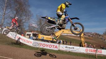 Patrick Walther am Motocross in Wohlen