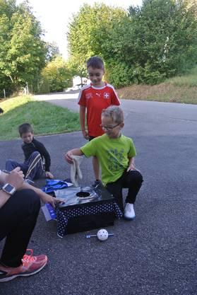 Gruppenwettkampf am Jugendsporttag in Rüttenen