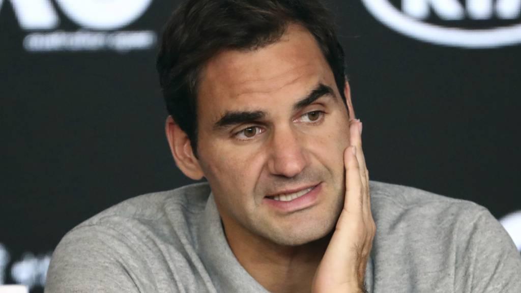 Roger Federer nach seinem bislang letzten Auftritt auf der ATP-Tour, als er im Halbfinal am Australian Open 2020 gegen Novak Djokovic verlor