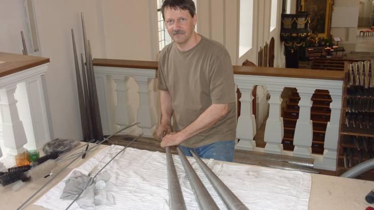 orgel der eusebiuskirche erstrahlt in neuem glanz grenchen solothurn solothurn az. Black Bedroom Furniture Sets. Home Design Ideas