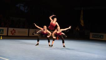 Die Vielseitigkeit der Disziplin und das Zusammenspiel von Choreografie und Musik der Aerobic-Damen des TV Weiningen vermögen zu begeistern.