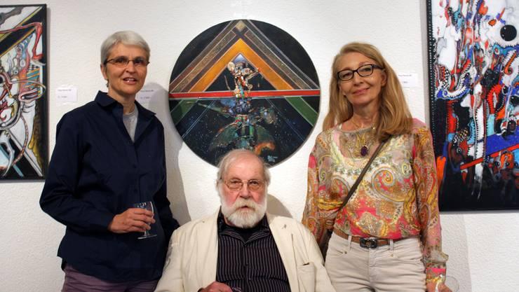 Kunst im Dreigespann: In der Zähnteschüür stellen die drei Künstler Sylvette Nick, Paul Racle und Jacqueline Racle-Bühler noch bis Mitte Juni ihre Werke aus.