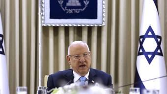 Israels Präsident Rivlin beauftragte erstmals in der Geschichte des Landes das Parlament damit, einen mehrheitsfähigen Ministerpräsidenten zu suchen. (Archivbild)