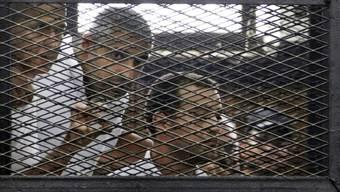 Drei der verurteilten Reporter von Al-Dschasira