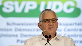 Der ehemalige SVP-Fraktionschef und Nationalrat Caspar Baader präsidiert die Findungskommission, die einen Nachfolger oder eine Nachfolgerin für Parteipräsident Albert Rösti ausfindig machen soll. (Archivbild)