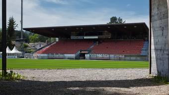 Der Blick ins Stadion Brügglifeld.