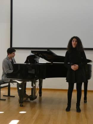 Der21. musikalischer Förderwettbewerb Prix Rotary fand im Chapf Schulhaus in Windisch statt.Nora Arvena Dacic und Simon Langenegger.