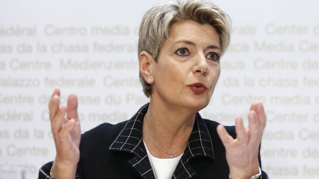 Keller-Sutter warnt vor«Ende des bewährten bilateralen Wegs»
