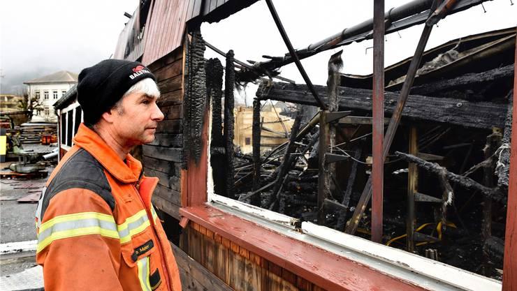 Balsthals Feuerwehrkommandant Urs Meier: «Wir haben uns beim Funkenoft ein gutes neues Jahr gewünscht.»